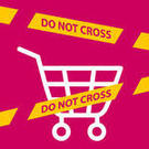 do-not-cross-the-line-crossing-a-shopping-cart-prohibition-of-shopping-cart-1201651