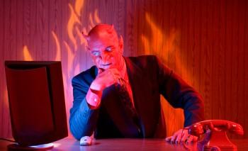 Businessman devil